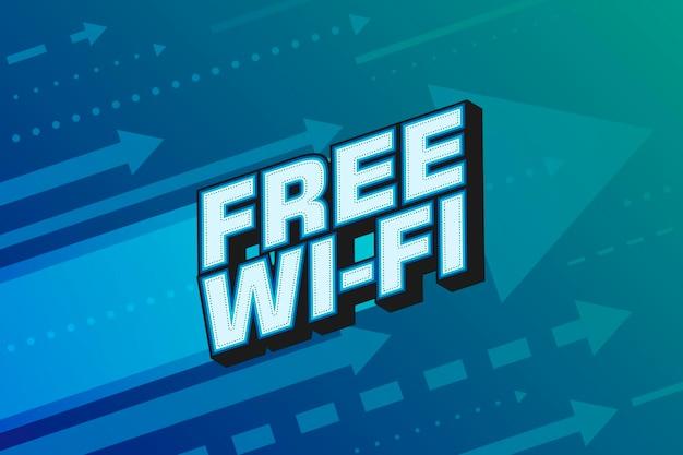 Free wi-fi calligraphic modern poster design. arrow hight speed internet background vector illustration.