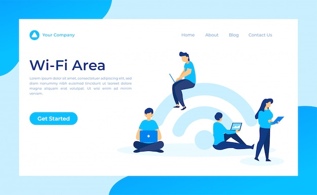Free wifi area landing page