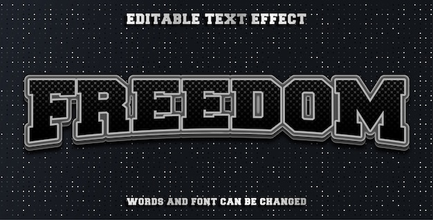 Freedom editable text effect