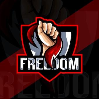 Freedom mascot logo esport design