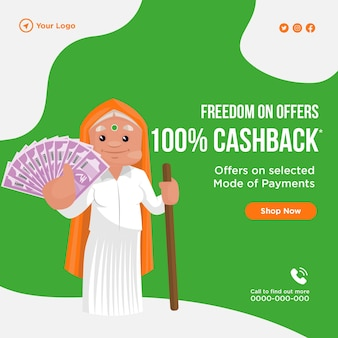 Freedom on offers cashback banner