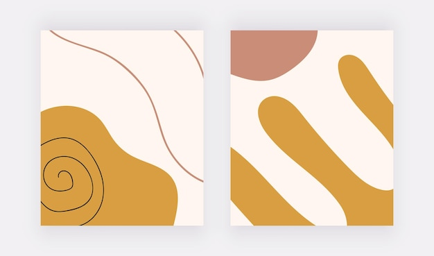 기하학적 boho 모양과 선이 있는 자유형 배경