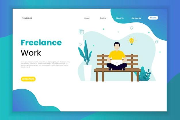 Freelance landing page template
