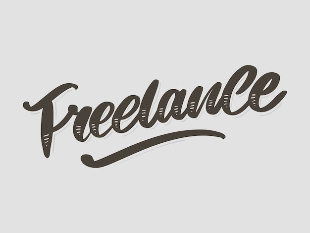 Freelance modern business template for lifestyle . lettering brush calligraphy slogan