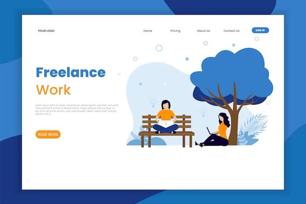 Freelance work landing page tempalte