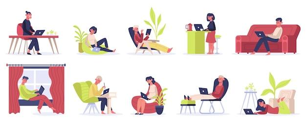 Freelance working people