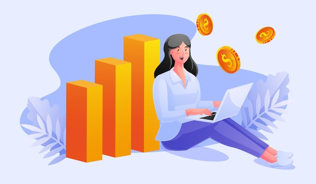 Freelancer relax working and make a lot of money