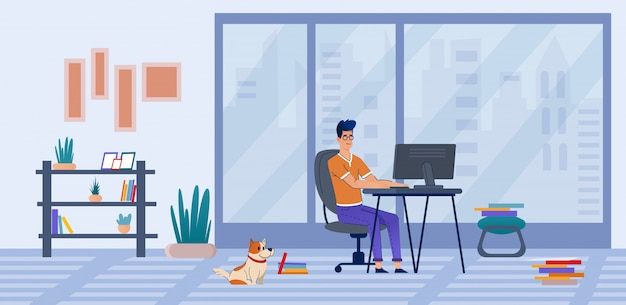 Freelancer work at home, online training, courses.