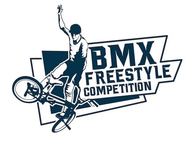 Freestyle bmx competition logo
