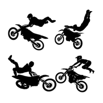 Freestyle rider motocross set logo designs