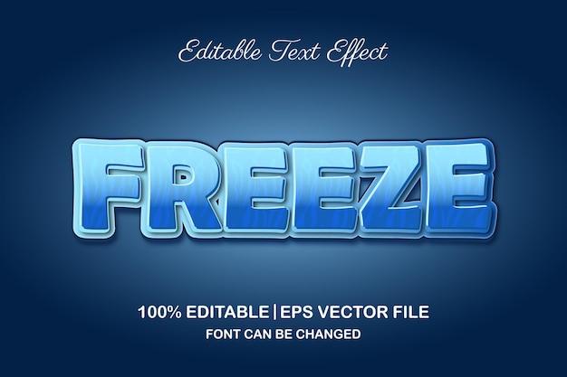 3d編集可能なテキスト効果をフリーズします Premiumベクター
