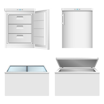Freezer icon set