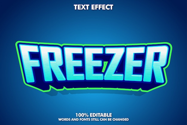 Freezer text effect for esport logotype