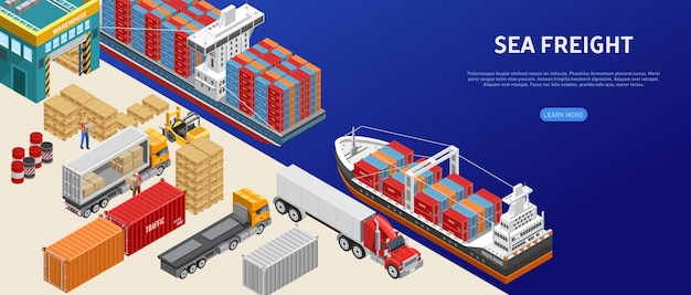 Freight transport in cargo port
