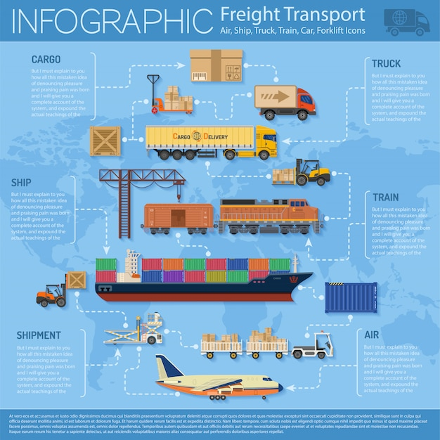 Freight transport infographics