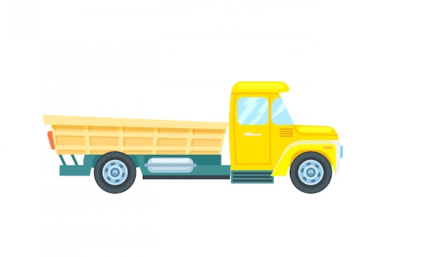Freight truck isolated vector