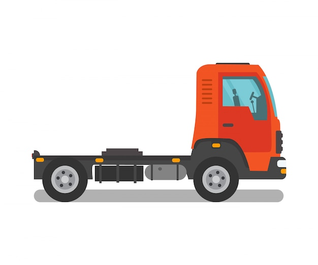 Freight truck, semi truck, cab vector illustration