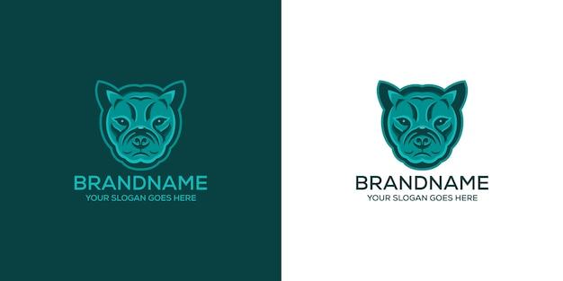 Французский бульдог с логотипом животного