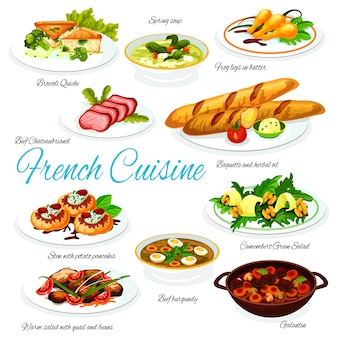 French cuisine meat, vegetable meals