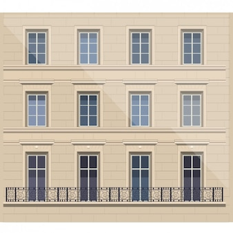 French Facade Illustration
