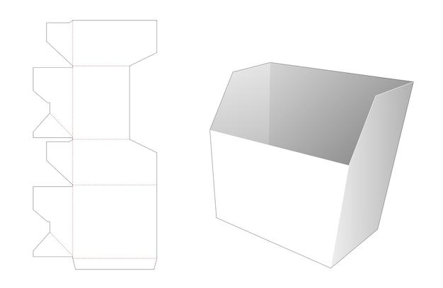 Шаблон высечки контейнера для картофеля фри