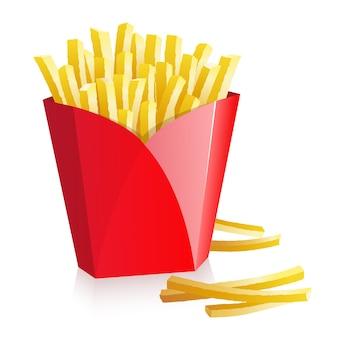 빨간 상자에 감자 튀김