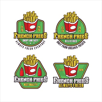 French fries lebel   design logo collection