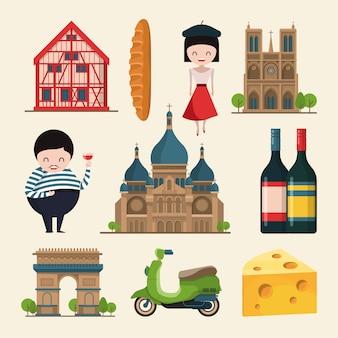 French landmarks.