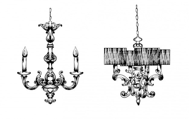 French luxury lamps set