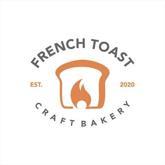 フレンチトーストベーカリーのロゴデザインのアイデア