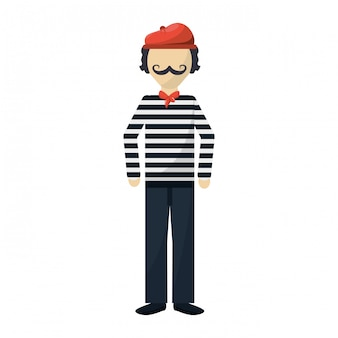 Frenchman character cartoon