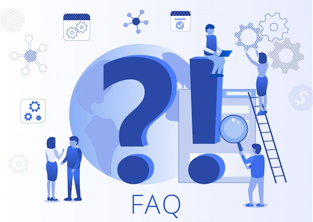 Frequently asked question faq flat landing page