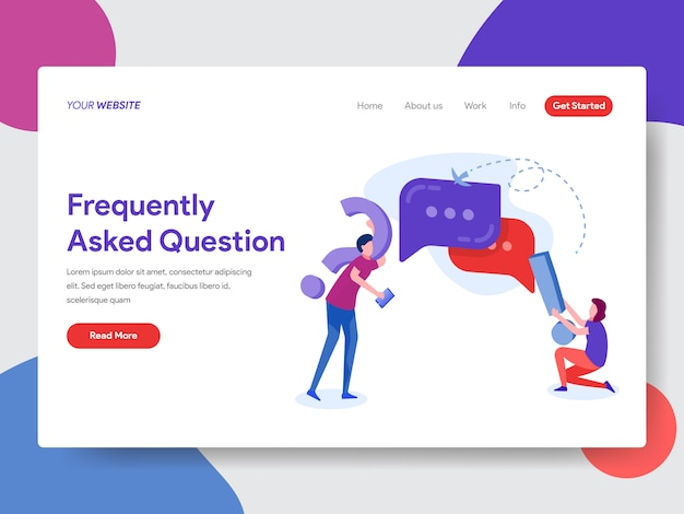 Frequently asked question illustration for homepage