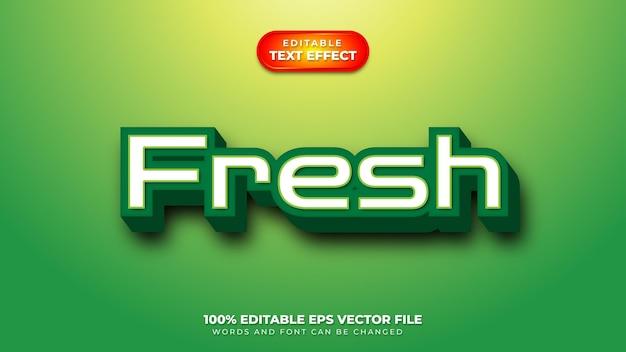 Fresh 3d text effect