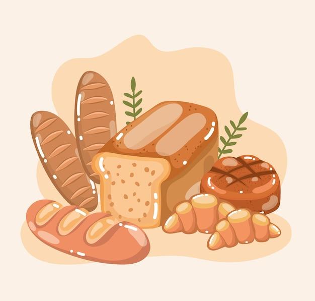 신선하고 맛있는 빵들