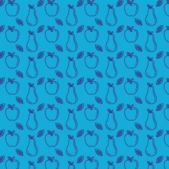 Fresh apples and pears pattern
