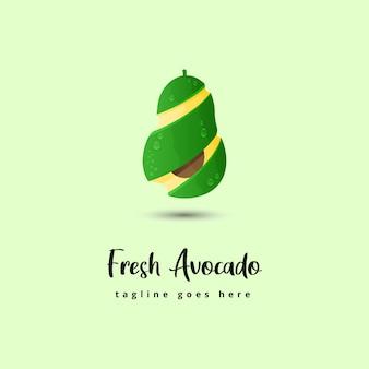 Fresh avocado illustration