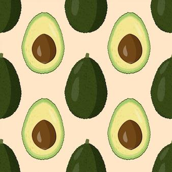 Свежий авокадо бесшовные модели.