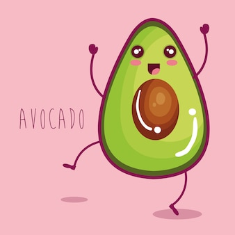 Fresh avocado vegetable character
