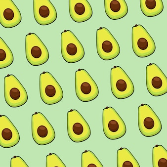 Fresh avocados vegetables pattern background