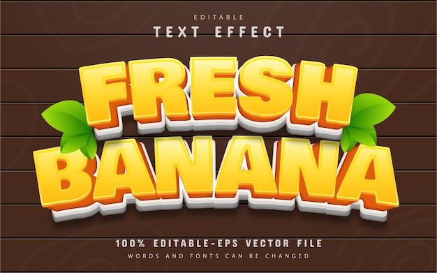 Fresh banana text effect cartoon style