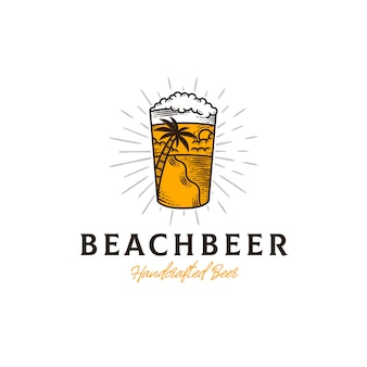 Fresh beer summer logo template