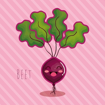 Fresh beet vegetable character