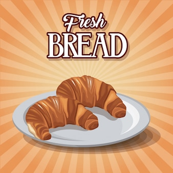 Fresh bread and wheat whole cereal nutrition