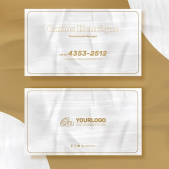 Fresh bread business card template