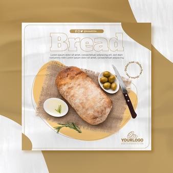 Modello di volantino di pane fresco