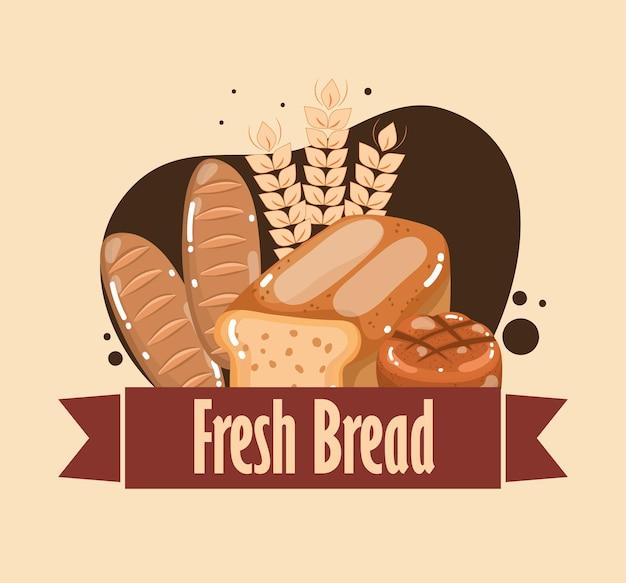 신선한 빵 음식