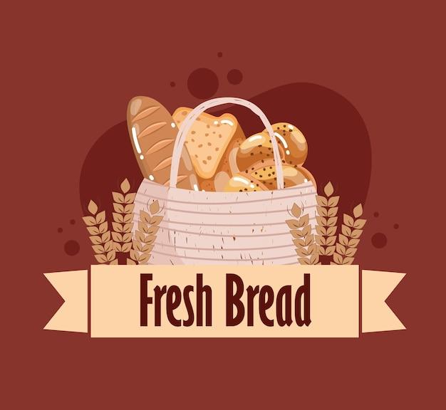 바구니에 신선한 빵