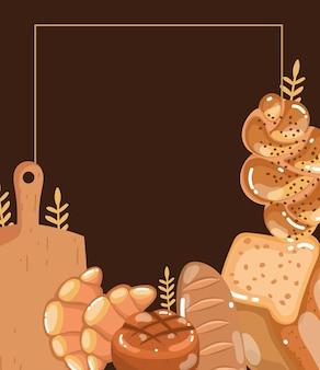베이커리의 신선한 빵