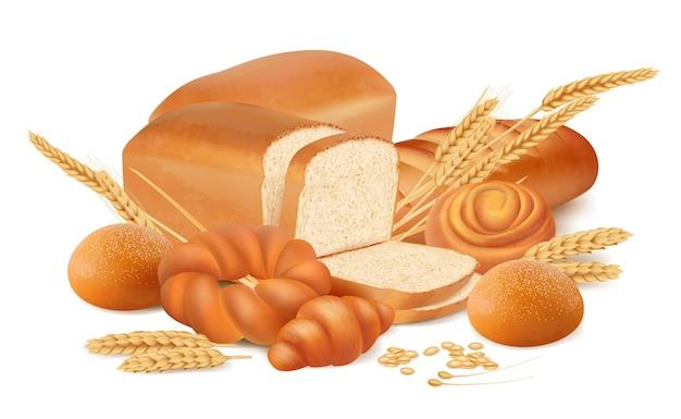 화이트에 신선한 빵